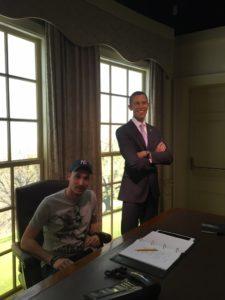 Maxime et Obama dans le bureau oval