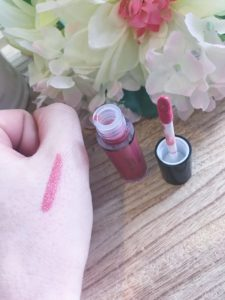 Doucce lip stain amber rose swatch